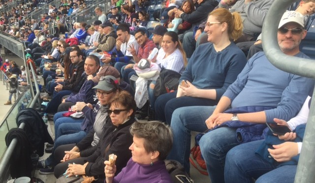 Saint Luke's cheers the Yankees on to victory at Lutheran Day at Yankee Stadium, Saturday, May 7