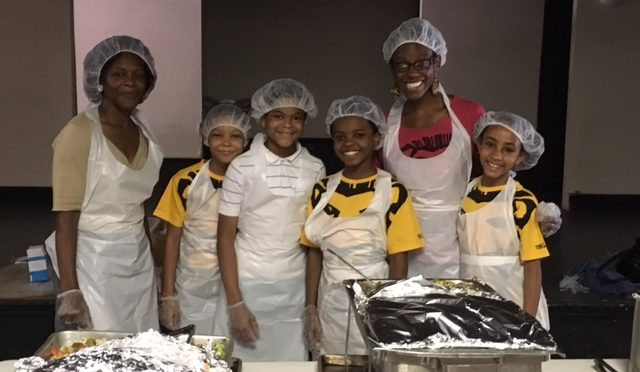 "The Lion King ""cubs"" – 2 young Nalas and 2 young Simbas – serve at the Soup Kitchen July 28!"