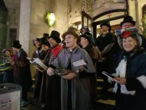 Caroling on the Church Steps Christmas Party