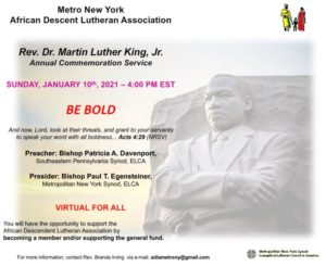 Annual Rev. Dr. Martin Luther King, Jr. Commemoration Service